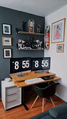 Roomspiration, Office Desk, Corner Desk, Furniture, Home Decor, Corner Table, Desk Office, Decoration Home, Desk