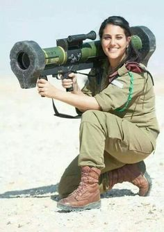 A Soldier for Zion: Nothing like a fine woman holding a missile; that would definitely hurt.
