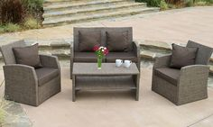 4-Piece Outdoor Seating Set | Groupon