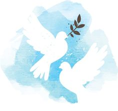Illustration about Two vector white doves on blue watercolor background, postcard for international peace day. Illustration of spring, hope, doves - 44317736 Watercolor Postcard, Watercolor Art, Peace Poster, Peace Dove, White Doves, Watercolor Background, Background Ppt, Free Vector Art, Blue Backgrounds