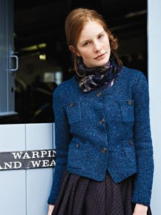 Knit this womens stocking stitch cardigan with four pocket detail and moss stitch bands from our Tweed Collection. A design by Marie Wallin using Rowan Tweed a beautifully soft, traditionally spun yarn comprising 100% wool. This knitting pattern is suitable for beginners.