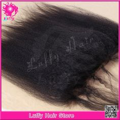 "92.20$  Watch now - http://ali83a.worldwells.pw/go.php?t=32298771519 - ""Brazilian Virgin Human Hair Silk Top Lace Frontal 13x4 Coarse Yaki Kinky Straight 4*4""""Silk Base Lace Frontal Closures Free Style"""