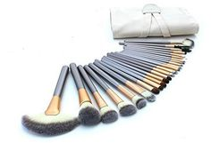 24 PCS Professional Fashion Beige Makeup brushes set With Bag -- To view further for this item, visit the image link.