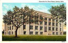 Lawton Oklahoma OK 1939 Comanche County Court House Antique Vintage Postcard