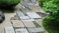 Great texture in this stone path