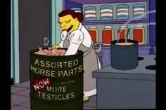 The Simpsons have been in on the horse meat scandal since 1994 it appears... - Imgur