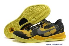 555035-001 Black Maize Style - Color Nike Zoom Kobe 8 VIII Sale