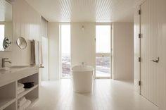 A bathroom at the Fogo Island Inn. Photographer Alex Fradkin.
