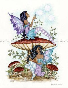 Amy Brown Lazy Days 2015 Fairy Art