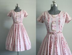 Vintage 1950s Dress / 50s Cotton Dress / by TuesdayRoseVintage, $138.00