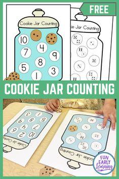 Fun Cookie Jar Counting Activity for Preschool and Kindergarten