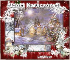 Animated Gif by Lady Moon Christmas Scenes, Christmas Pictures, Christmas And New Year, Christmas Cards, Merry Christmas, Animated Gif, Animation, Winter, Crafts