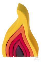 four elements: fire wooden puzzle