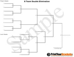 7 Team Seeded Single Elimination Printable Tournament
