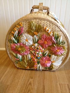 Vintage Straw Bag Carry On Jamaica with by avintagerevolution  Grab this bag and off to the islands you go!