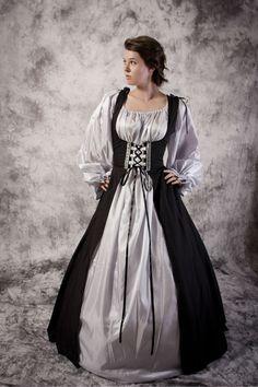 Bodice Dress Gown Renaissance Medieval Costume Wedding Wench Larp Noble Chemise | eBay