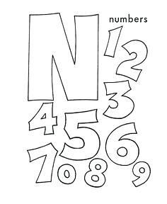 Coloring Picture That Start With N Google Search Letter A Crafts Letter N Crafts Numbers Preschool