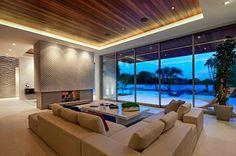 Vivre éclairage de la pièce éclairage encastré un mobilier chic tapis de salon