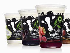 Pays-Bas Yoghurts #tub #packaging Yogurt Packaging, Dairy Packaging, Ice Cream Packaging, Organic Packaging, Milk Packaging, Cool Packaging, Bottle Packaging, Cup Design, Food Design