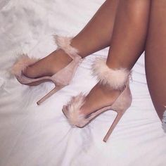 Women's Style Pumps Pink Downy Open Toe Stiletto Heels Ankle Strap Sandals Fall Fashion Outfits For Women Fall Fashion Wedding Dresses Shoes Back To School Outfits Cute Outfits For College For for Formal event Party Stilettos, Stiletto Heels, High Heels, Fur Heels, Shoes Heels, Flat Shoes, Prom Heels, Fancy Shoes, Cute Shoes