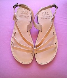 Leather sandals handmade 100leather by GreekSandalShop on Etsy, $38.00