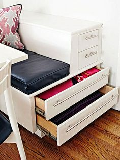 """Extra storage drawers from """"Maximizing Kitchen Space --Add a Breakfast Nook"""""""