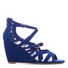 Shoe dazzle Blue wedge. Cute, but tough to color-coordinate with current wardrobe.