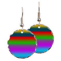 Colorful Rainbow Earring on CafePress.com