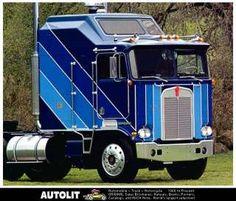 Kenworth Trucks of the 1950s cabover 18 wheeler big rig tilt cab ...
