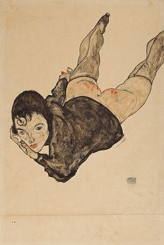 "An online auction record! Austrian artist Egon Schiele was a protégé of Gustav Klimt. His work is noted for its intensity and its raw sexuality. ""Reclining Woman"" is a watercolor from 1916. In 2013, the artwork went under the hammer of the online auction Auctionata for more than $2.4 million. It broke the world record for the most expensive work of art ever sold at an online auction."