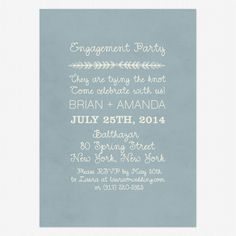 In Cursive Engagement Party Invitations www.lovevsdesign.com