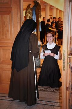 We welcome to our community, Sara, our new postulant on the feast of The Immaculate Conception. Also the 160th Anniversary of the Poor Clares of PErpetual Adoration.