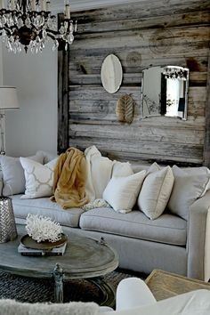 "The ""reclaimed wood"" wall has become very trendy. I love the look, and I hear it's easy to do."