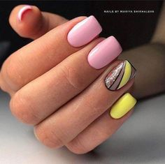 Top 150 ideas for Yellow Nail art designs – Reny styles Top 150 ideas for Yellow Nail art designs – Reny styles Yellow Nails Design, Yellow Nail Art, Pink Yellow, Nail Designs Spring, Nail Art Designs, Ongles Roses Clairs, Art Jaune, Mauve Nails, Nagellack Trends