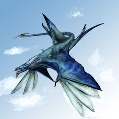 Ikran Banshee: I would love to be able to fly on one of these!