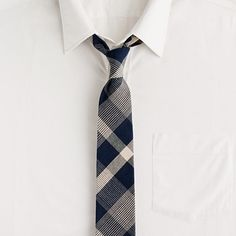 Hartlin-check tie in vintage navy