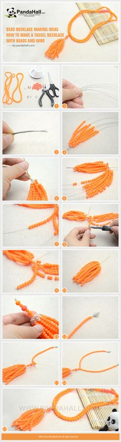 How to Make a Tassel Necklace with Beads and Wire