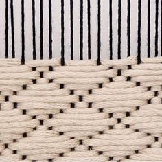 Knitting Patterns combine The coolest black and white weaving!You can also weave with out threads. used Natura XL 😙✨lune vintage weaving techniques these are for textiles but would be good for books and jewelry.weaving techniques handout More - Salva Weaving Loom Diy, Weaving Art, Tapestry Weaving, Weaving Textiles, Weaving Patterns, Macrame Patterns, Fabric Weaving, Craft Patterns, Weaving Wall Hanging