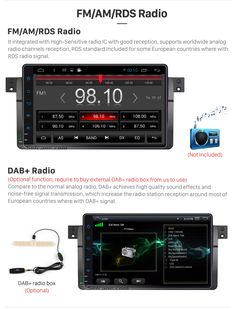 FM/AM/RDS Radio Android 5.0.1 9 inch  HD 1024*600 touch Screen for 1998-2006 BMW 3 Series E46 316i 318i 320i 323i 325i GPS Navigation Bluetooth Radio RDS Mirror Link WiFi