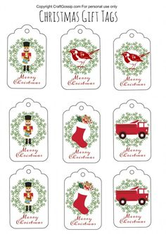 These Christmas gift tags are free. You simply have to print them off on to card stock and cut them out. The Christmas theme is slightly vintage with old style Christmas graphics. These Printable C… tags printable Free Printable Christmas Gift Tags Christmas Present Tags, Free Printable Christmas Gift Tags, Christmas Labels, Christmas Graphics, Christmas Gift Wrapping, Handmade Christmas, Christmas Gifts, Printable Tags, Crochet Christmas