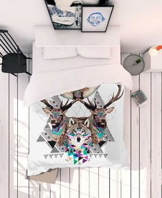 Forest Friends by Kris Tate as Bed Linen Bed Linen, Linen Bedding, Bedding Sets, True Colors, Colours, Forest Friends, Textile Prints, Bed Spreads, Bed Sheets