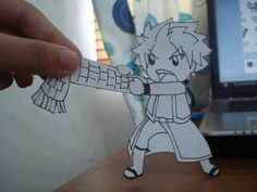 Awwwwww!!!!! This is adorable! Don't take the muffler Igneel gave Natsu.