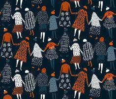 Knitted rows fabric by mirjamauno on Spoonflower - custom fabric
