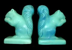 Van Briggle squirrel bookends.    (these would look brilliant on a white bookshelf)    $350.