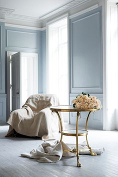 Presenting Iconic Design from Ralph Lauren Home    The Heiress Gueridon  This Regency Revival Empire guéridon table is topped with marble and features bird heads, lion's paw feet and classical decorative motifs in estate brass.  Explore Now