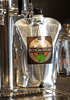 EcoGrowler – 5L, 64oz., 32oz. and 9oz. beer (carbonated) model. Also 750mL, 1.5L, and 3L wine (non carbonated) model