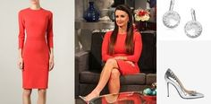 Kyle Richards Real Housewives of Beverly Hills Season 5 Shoes, Dress and Earrings DETAILS: http://www.bigblondehair.com/real-housewives/rhobh/kyle-richards-real-housewives-of-beverly-hills-season-5-reunion-dress-shoes/