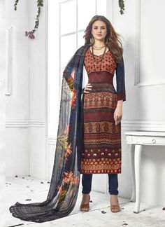 80528b98a27 Maroon Wholesale Straight Salwar Kameez In Pashmina Fabric Salwar Kameez  Online