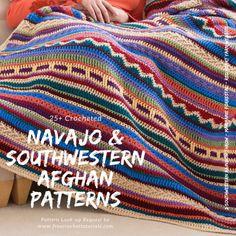 Southwestern Style Crochet Blanket Patterns – Navajo Afghan Patterns www.freecro… Southwestern Style Crochet Blanket Patterns – Navajo Afghan Patterns www. Crochet Afghans, Crochet Indian Blanket Free Pattern, Crochet Shrug Pattern, Crochet For Beginners Blanket, Crochet Flower Patterns, Crochet Stitches Patterns, Crochet Blankets, Crochet Ripple, Tapestry Crochet
