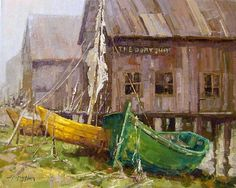 The Dory Shop by Jerry Markham was selected as a Finalist in the December 2011 RayMar Art Painting Competition.